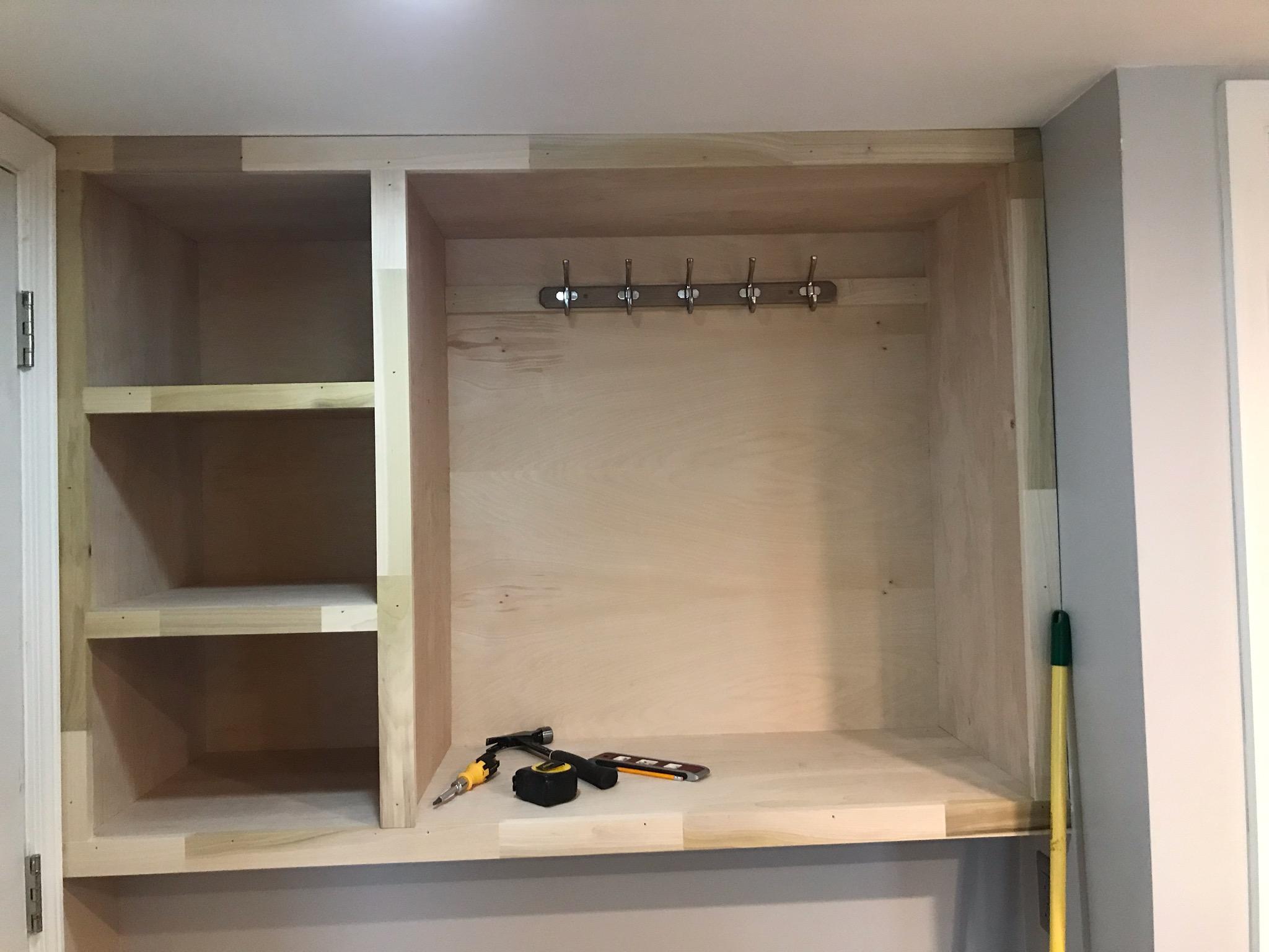 Custom Closet Cabinet in Hilliard Ohio