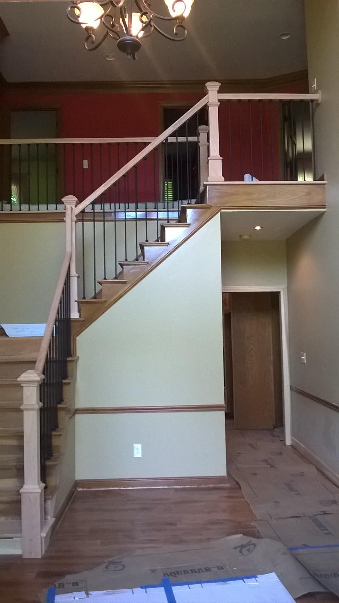 Columbus Carpentry Custom Oak Handrail