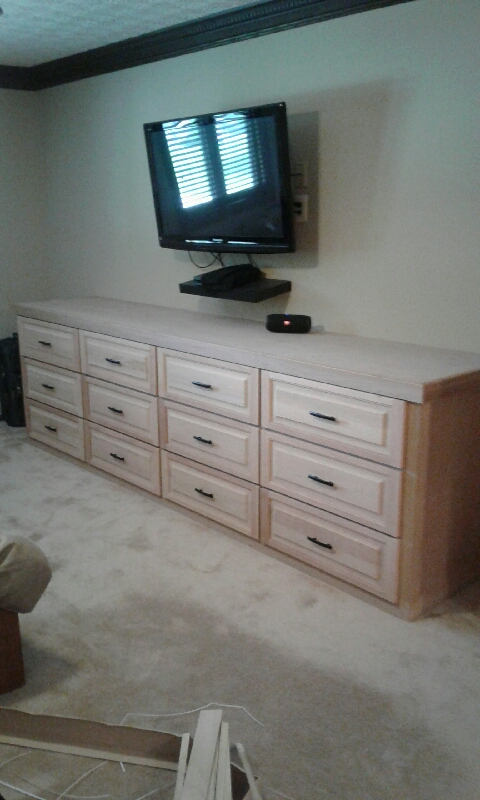 Custom Built Cherry Dresser for a home in Linworth Ohio