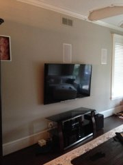 Dave's Carpentry Custom entertainment center before