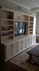 Dave's Carpentry Custom entertainment center after