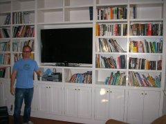 Dave's Capentry Custom bookshelves