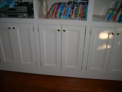 Dave's Carpentry custom bookshelves