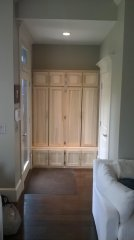 Custom carpentry closet after