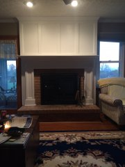 dave's carpentry mantel before
