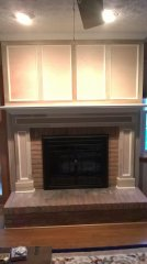 dave' s carpentry mantel before
