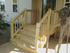 Columbus Carpenter New Wood Steps